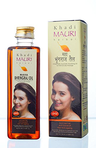 KHADI Maha Bhringraj Hair Oil- 250 ml - KING OF OILS - Anti Hairfall+Anti Dandruff - Ancient Ayurvedic Herbal Hair Oil