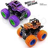 CocoRio (2 Cars Pack) Mini Off-Road Vehicle Inertia Car Monster Truck Children Dump Truck Stunt Car Educational Toy Car Model
