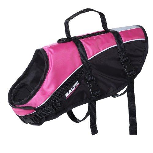 Baltic Schwimmhilfe Mascot für Haustiere, mit Klettverschluss und Gurt mehrfarbig Pink/Black Large 15-30 Kg (Dog Schwimmhilfe)