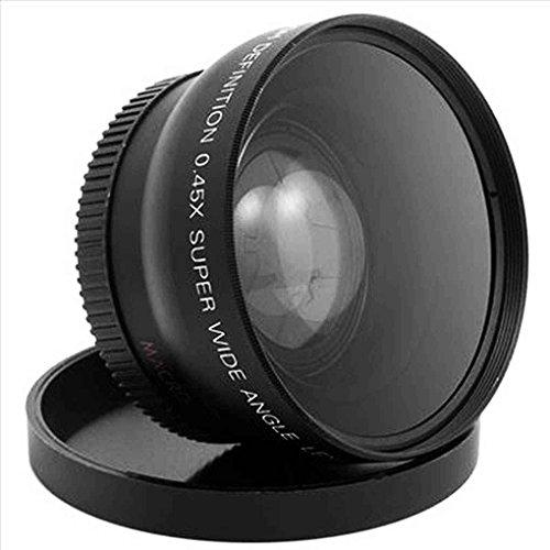 Mengonee 52MM 0,45 x Obiettivo macro grandangolare per obiettivo macro ad alta risoluzione Nikon D3200 D3100 D5200 D5100
