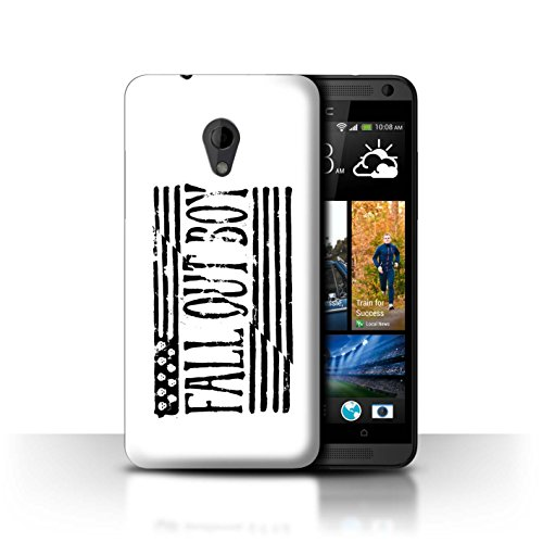 Offiziell Fall Out Boy Hülle / Case für HTC Desire 700 / Flagge/Weiß Muster / FOB Band Logo - Desire Htc Handy-fall, 700