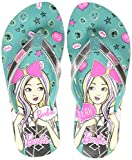 Barbie Girl's Sea Green Flip-Flops-3 UK/India (35 EU) (STY-18-19-001297)