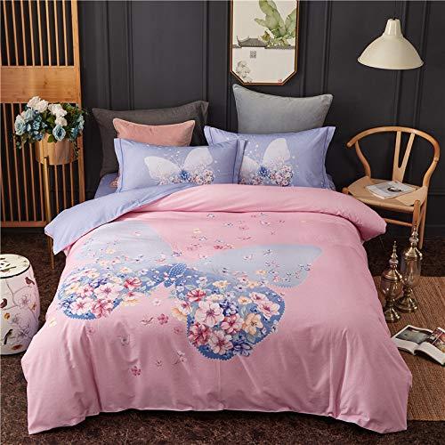 yaonuli Reine Baumwolle Schleifen Vier stück Baumwolle Blume erinnern Zeit Pulver 1,5 Bett bettbezug 200 * 230 cm bettlaken 245 * 250 cm Kissenbezug Zwei
