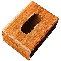 Generic Bambus Tissue Box Kosmetiktücherbox , Wohnzimmer Auto Dekoration - Natürlich, 16x10x8cm