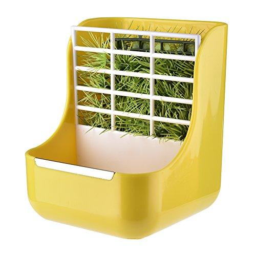 Purebesi pet feeder e erba telaio per conigli cincillà big cavie contenitori per alimenti 2in 1feeder ciotole