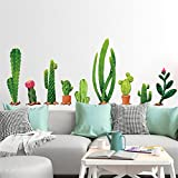 Wandaufkleber Yesmile DIY Kaktus Pflanze Wandtattoo Wandaufkleber Kunst Wohnkultur Abnehmbare-2