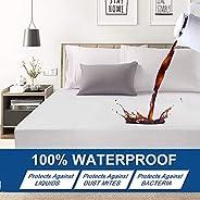 Premium Hypoallergenic Waterproof Mattress Protector - Deep Pocket - Hypoallergenic Vinyl Free