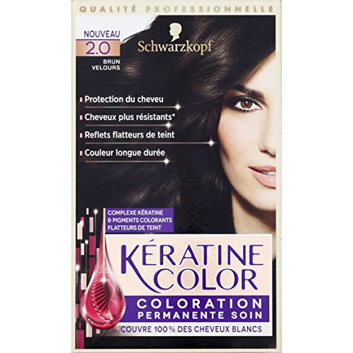 Kéranove - 2.0 Brun velours, Coloration permanente soin - La boite de 154ml - (pour la quantité plus que 1 nous vous remboursons le port supplémentaire)
