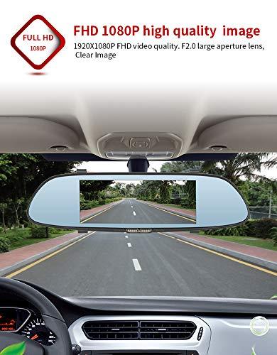 JKYQ 7 Zoll Full HD 1080P Auto Dash Cams DVR Dashboard-Kamera Eingebaute G-Sensor Motion Detection Loop Aufnahme Nachtsicht Kameras Dvr Cd