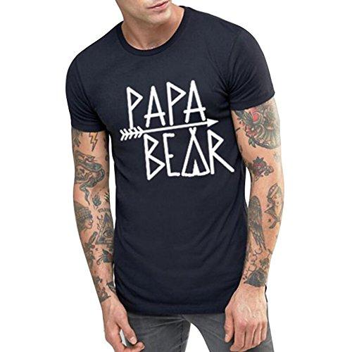 Für Mama Outfits Und Passende Baby (Meedot Familie Passenden Outfits Geschenke Tragen Print Brief für Mama Papa Kinder Baby Spiel T-Shirt Papa Black 3XL)