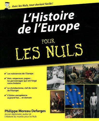 Histoire de l'Europe pour les nuls par Philippe Moreau Defarges