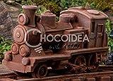 Choco SET Tren+Vía/Choco Set Train+Railway, 100% artesanal, hecha a mano con chocolate fino belga Barry Callebaut (224g) 13,4 x 4,8 x 7,6/14,5 x 4,8 x 1 cm