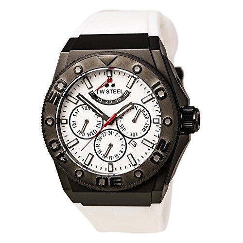 TW Steel CE5002 Montre bracelet Mixte, Silicone, couleur: blanc