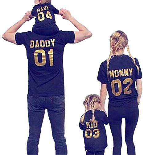 Minetom Vater Mutter Sohn Tochter Und Baby Outfits Eltern Kind Outfits Familien Matching Kleidung 02 Mommy EU S