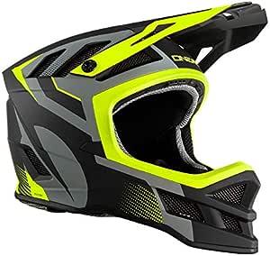 Oneal Blade Hyperlite Ipx Helmet Oxyd Grau Neon Yellow Motorradhelm Mx Motocross Helm Sport Freizeit
