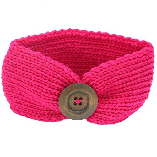 KanLin Baby Strickendes Stirnband Säuglingskind Mädchen Bowknot Stirnband (Hot Pink)