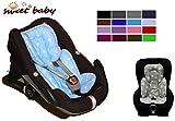 Sweet Baby ** SLEEPY Auto-Sitzverkleinerer / NeugeborenenEinsatz Antiallergikum LITTLE STARS ** Passend für Babyschalen Gr. 0/0+ und Gr. 1 ** Ideal auch für Maxi Cosi, Cybex etc. sowie Kinderwagen, Babywanne etc. (Hellblau)