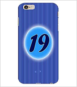 PrintDhaba Numerology Number 19 D-2577 Back Case Cover for APPLE IPHONE 6S PLUS (Multi-Coloured)