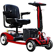 KMCQA 4 Ruedas de Movilidad Scooter Adulto Vehículo Eléctrico Ancianos Discapacitados Scooter Fácil Montado