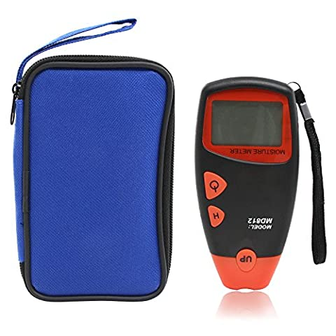 Xcellent Global Handheld Digital Wood Moisture Meter for Testing Construction Materials and Firewood (Range 5%-40% RH, Accuracy: 1%) HG154