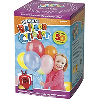 Unique Party 80017 - Large Disposable Helium Canister to fill 50 x 9