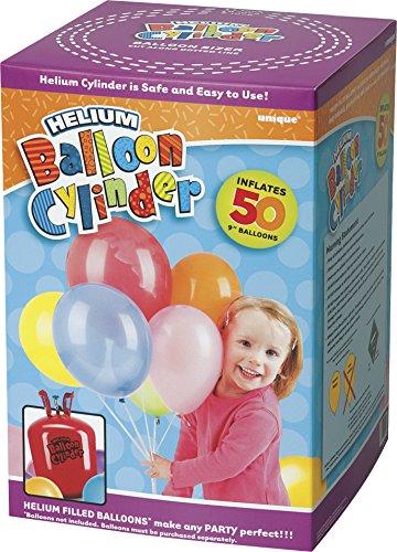 (Unique Party Supplies Großer Einwegkanister für Helium, um 50x 22,9cm große Helium-Luftballons zu befüllen)