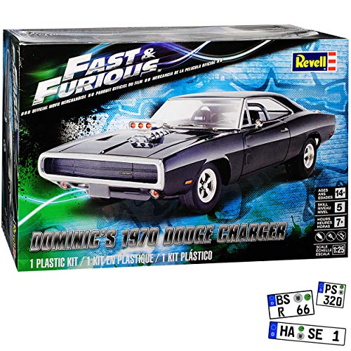 Dodge Charger R/T Dominic Toretto The Fast and The Furious Bausatz Kit 1/24 1/25 Revell Monogram Modell Auto