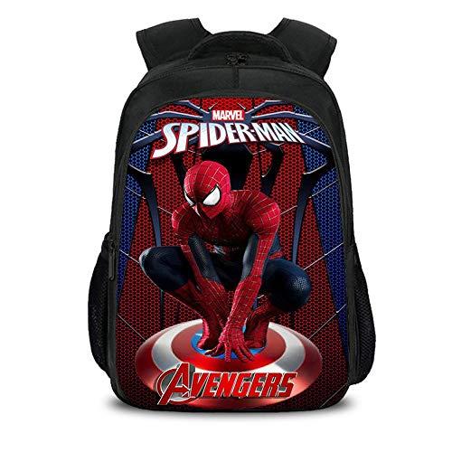 Bag Set Kinder Schulrucksack 3D Anime Spiderman Printed Bookbags Für Jungen W-16inch -