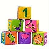 Mamum 6pcs bambino sacchetto di sabbia panno morbido, nuovo bambino infantile panno morbido blocchi di costruzione giocattoli educativi sonagli 6pcs/set