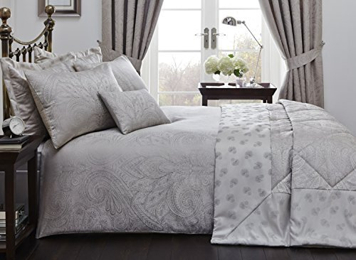 Natural Colour King Size Quilt Duvet Cover and 2 Pillowcase Bedding Bed Linen Set Jacquard