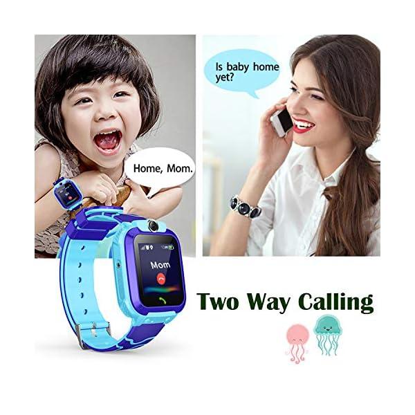 Smartwatch Niños IP67 Impermeable - AGPS LBS Tracker Localizador Reloj Inteligente Niños, Smartwatch Niña con Cámara SOS Chat de Voz Juego Alarma, Reloj Inteligente Niña Compatible con iOS Android 3