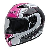 NZI Must Motorradhelm, Mehrfarbig, Weiß/Schwarz/Pink, 54(XXS)