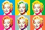 XXL-Poster Marilyn Monroe im Andy Warhol Stil - Größe 115 x 175 cm