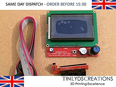 12864 Display LCD 3D Printer Controller , Adapter And Cable for RAMPS 1.4