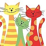 Sovie HOME Serviette Cats | Airlaid-Servietten 40x40 cm | hochwertige Einweg-Servietten für Feiern | extrem saugstark | 12 Stück