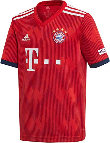 adidas Kinder 18/19 FC Bayern Home Trikot FCB True Strong red/White, 176