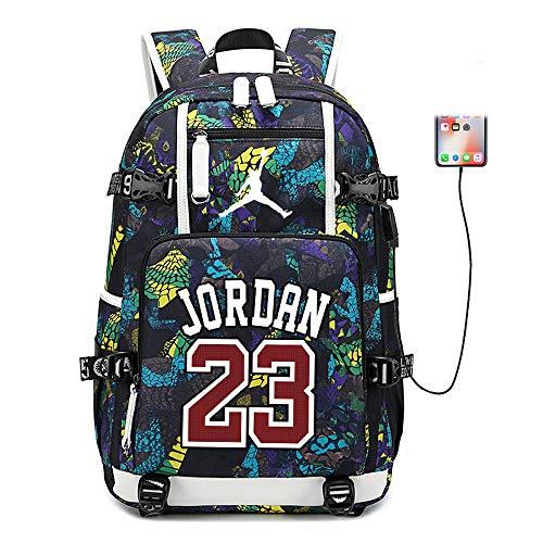 Lorh's store Basketballspieler Star Michael Jordan Multifunktionsrucksack Reisestudent Rucksack Fans Bookbag für Männer Frauen (Stil 5)
