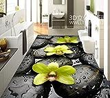 Wallpaper Experten die selbstklebenden Stein Perlen Orchidee 3D bad Bodenfliesen Bodenfliesen 3D-Poster