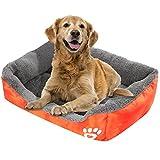 Acecoree Hundebett Kuschelsofa Hundekorb weich und kuschelig Haustier Bett Ideal für Hunde oder Katzen (Orange)
