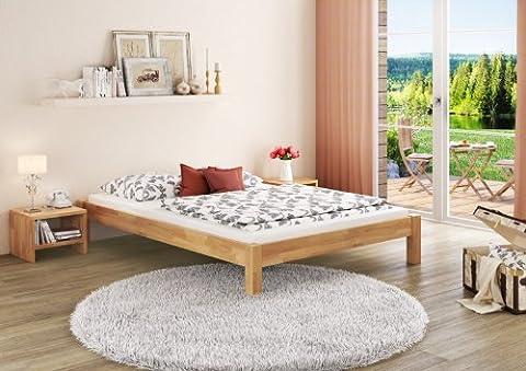 Doppelbett Ehebett Kingsize-Bett 180x200 Buche massiv Lattenrollroste Matratzen 60.84-18