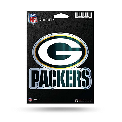 Rico Industries, Inc. Green Bay Packers 12,7cm Metallic Aufkleber Die Cut Auto Aufkleber Emblem Fußball (Packers-aufkleber Green Bay)