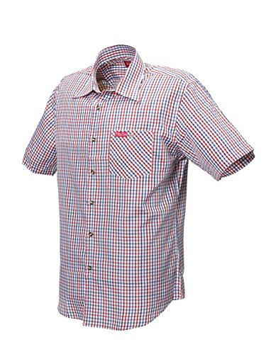 Fifty Five -  Camicia Casual  - A quadri - Maniche corte - Uomo red/blue-check
