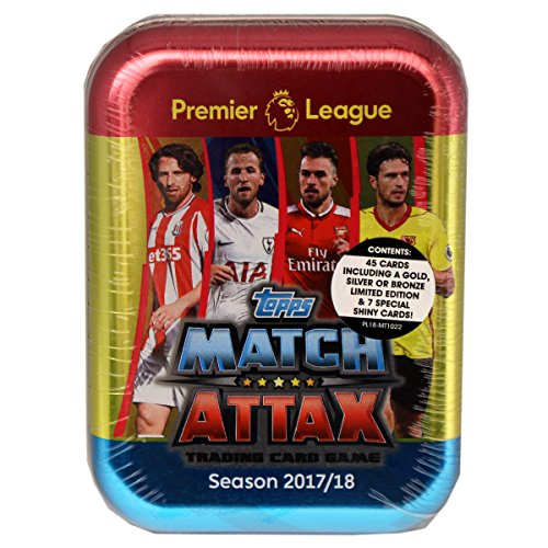 Topps Match Attax Premier League 2017/18 Tin Dose mit 45 Karten - darunter 7 Special Cards