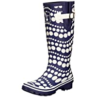 Evercreatures Womens Dancing Dots Wellington Boots