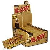 Raw King Size Slim Boite de 50 Carnets de Feuilles à Rouler