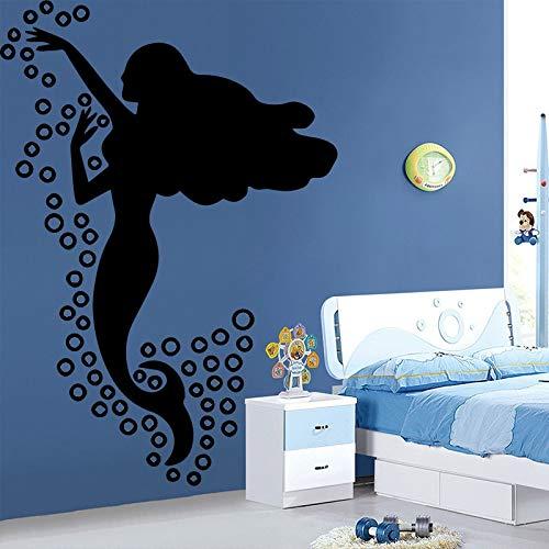 yiyitop Schöne Prinzessin Ariel Vinyl Aufkleber Kleine Meerjungfrau Wandaufkleber Ver Mädchen Schlafzimmer Wohnkultur Kinder Kinderzimmer 58 * 83 cm
