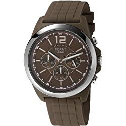 Esprit Men's Quartz Watch with Brown Chronograph Dial and Haywa Rubber Strap
