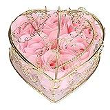 Handgemachte Seife Goosun 6 Rose Seifenblume Im Vergoldet Geschenkbox Blumen