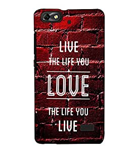 Fuson Designer Back Case Cover for Huawei Honor 4C :: Huawei G Play Mini (Live the life you theme)