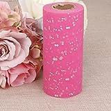 Rouleau Tulle Sequin pour Couture Tutu Artisanal Décor de Mariage 22mx15cm Rose